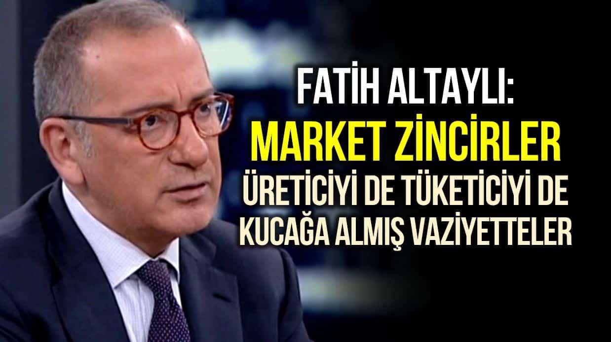 Fatih Altaylı: Söyleyeyim de dudağınız uçuklasın, pahalılığın sırrı market bilançolarında gizli!