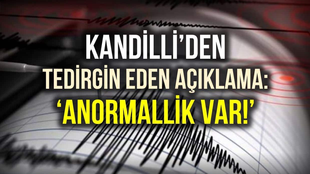 Kandilli İstanbul 3 ilçe için deprem uyarısı: Anormallik yaşanıyor!