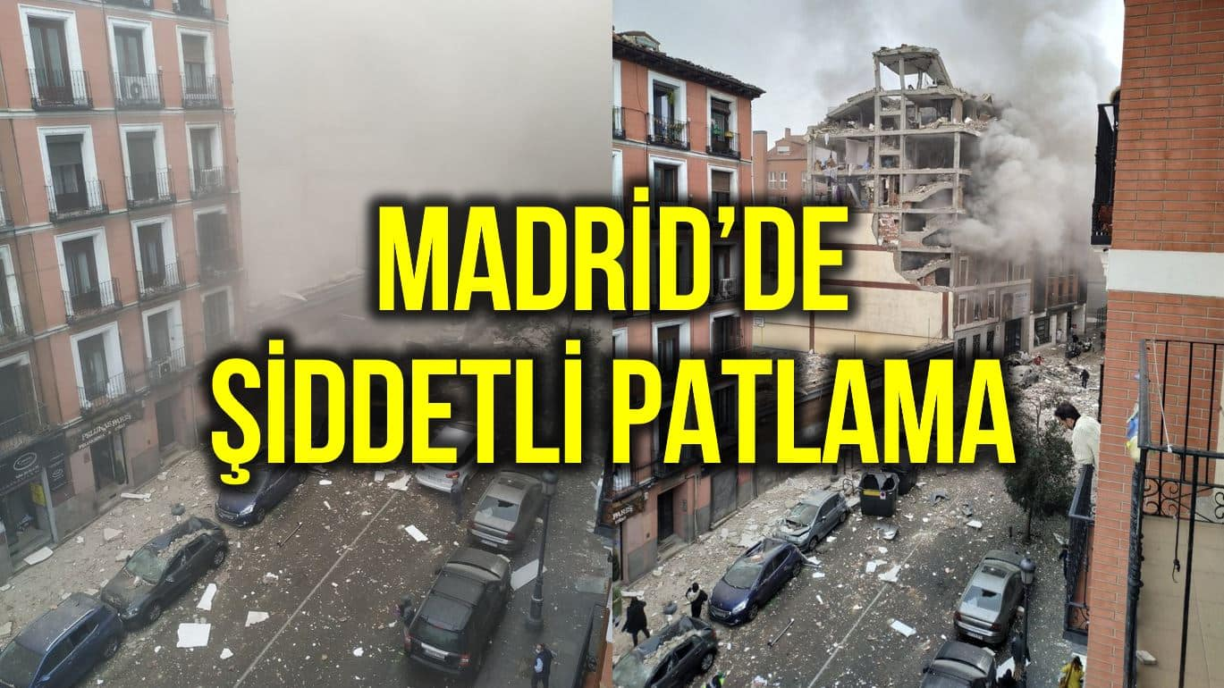 Madrid de şiddetli bir patlama meydana geldi