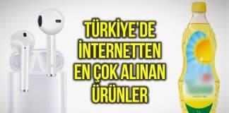 Türkiye de internetten en çok alınan ürünler açıklandı!