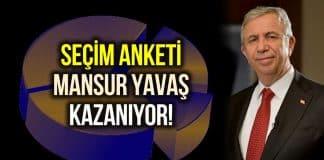 MetroPoll seçim anketi: Mansur Yavaş, Erdoğana karşı kazanıyor