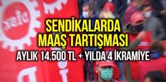 Sendika yöneticilerinin maaşı tartışması: Aylık 14.500 lira artı yılda 4 ikramiye!