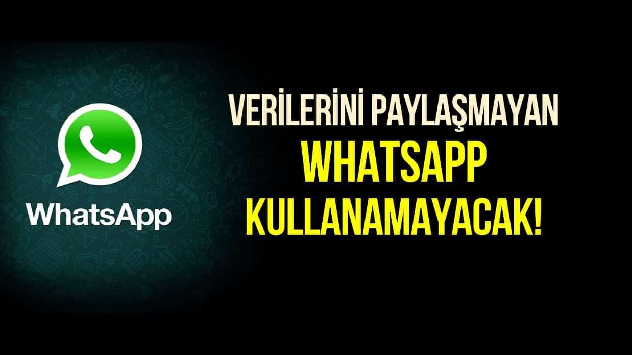 Verilerini Facebook ile paylaşmayanlar WhatsApp kullanamayacak!