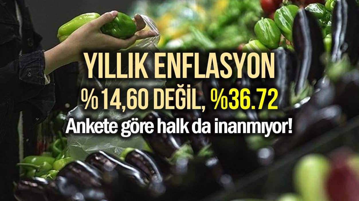Enflasyon Araşırma Grubu: Yıllık enflasyon 14,60 değil, 36.72