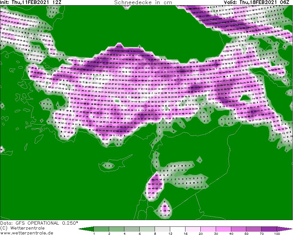 türkiye kar