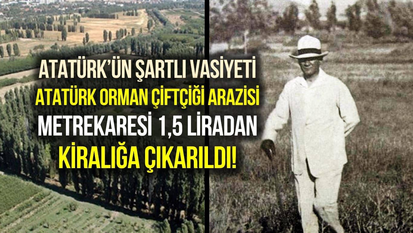 Atatürk Orman Çiftliği kiralık