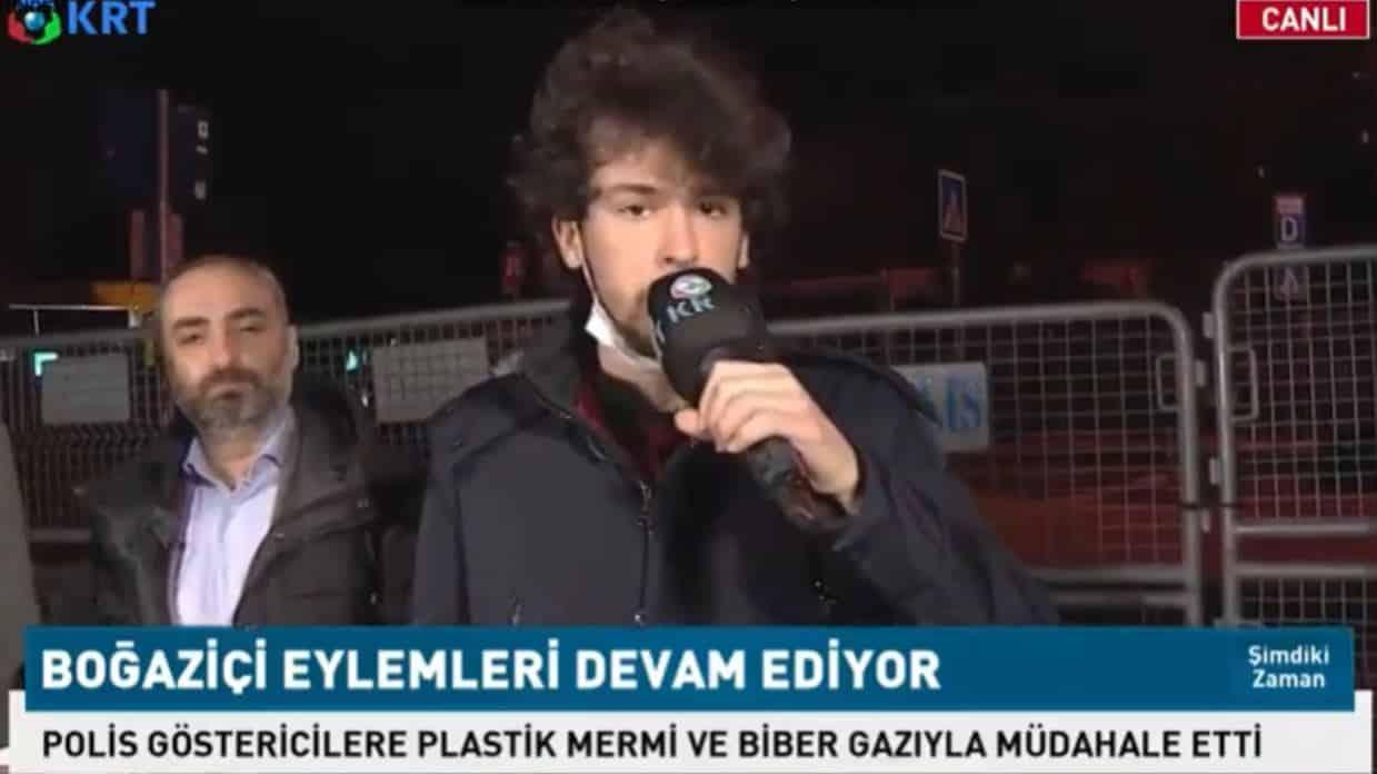 Boğaziçi öğrencisi Berkay Yamener, 'Belki de gözaltına alınacağım' dedi, canlı yayında konuştu