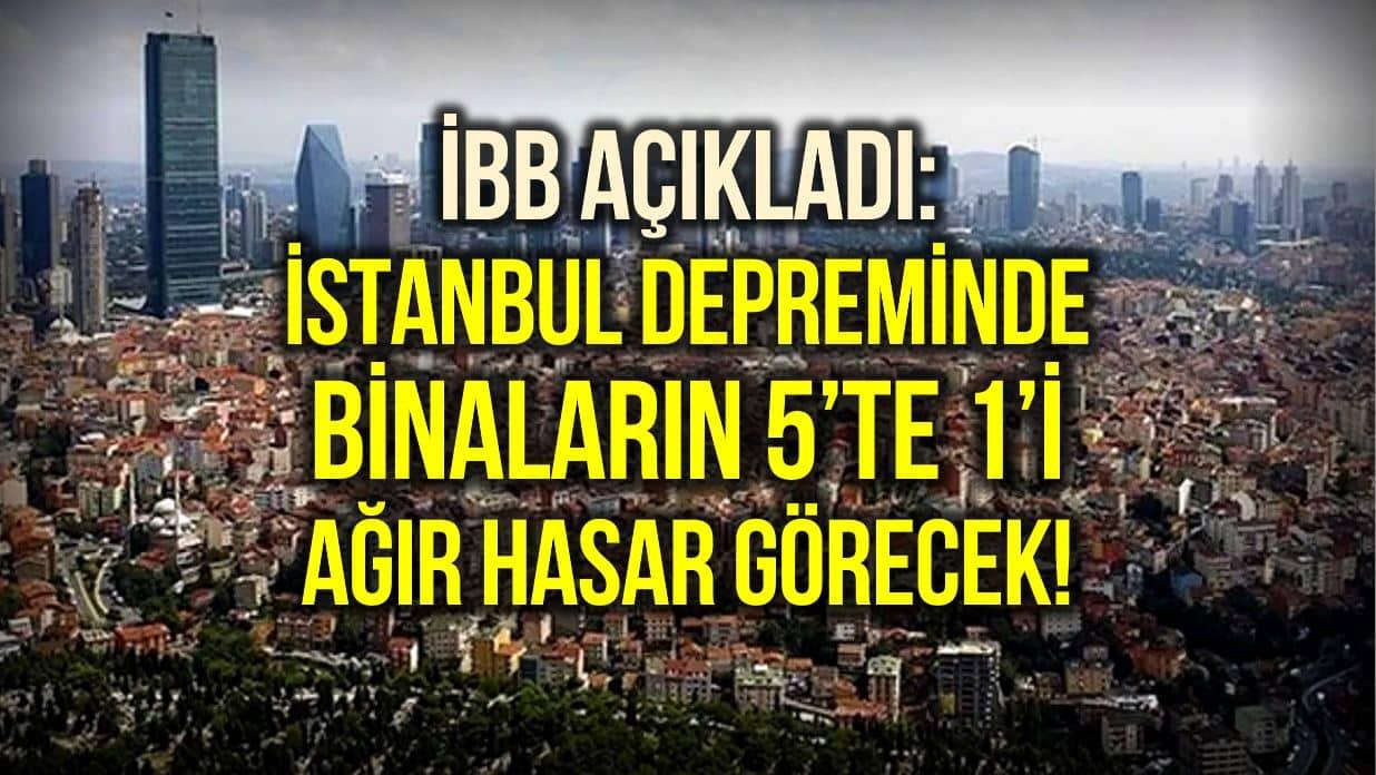 istanbul depreminde bina hasar