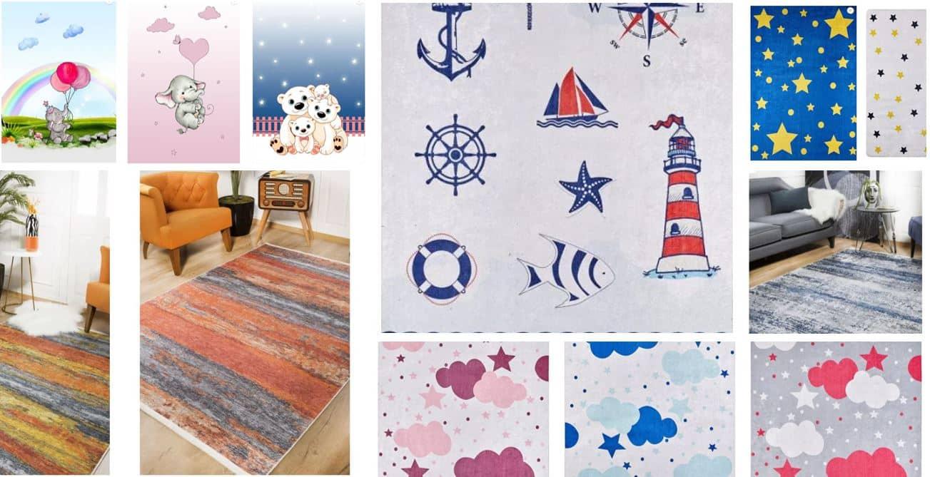 Çocuk odasına renk katan halılar