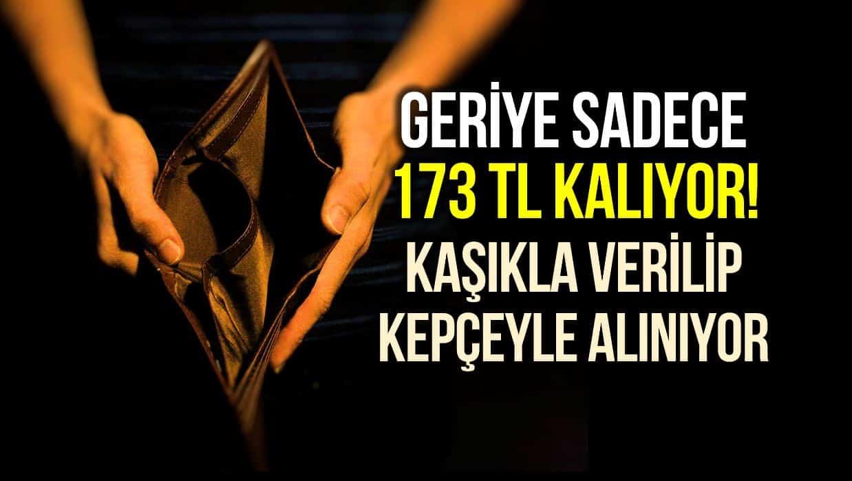 Ekonomik krizin boyutu: Sadece gıda harcaması düşülünce asgari ücretliye 173 TL kalıyor!