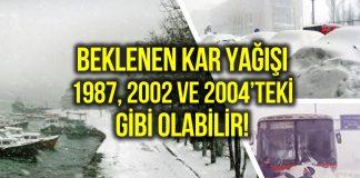 kar yağışı ne zaman 1987 2002 2004