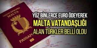 Malta vatandaşlığı alan Türkler