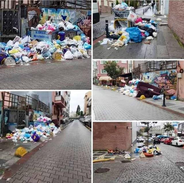 çöp yığınları chp belediye grev