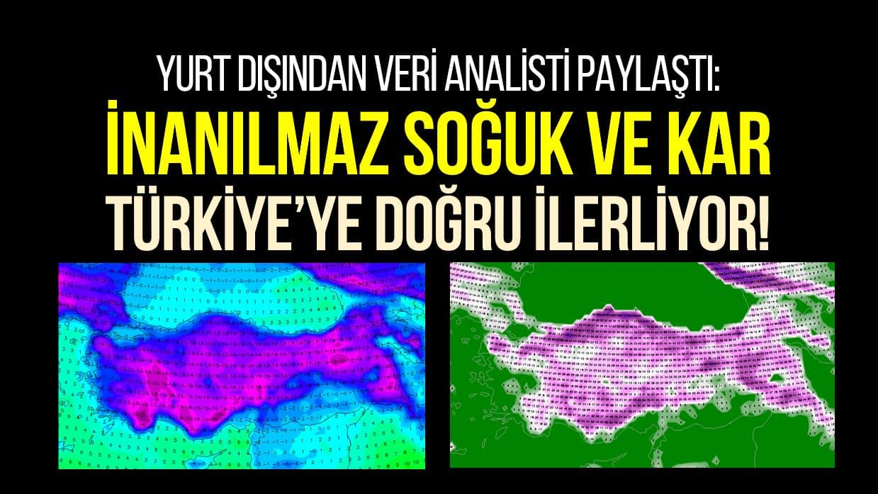 david birch İnanılmaz soğuk ve kar Türkiye ye doğru ilerliyor!