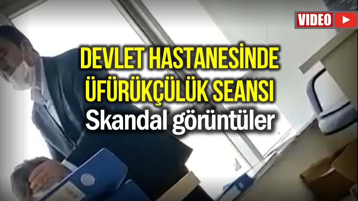 Gaziantep devlet hastanesinde üfürük seansı!