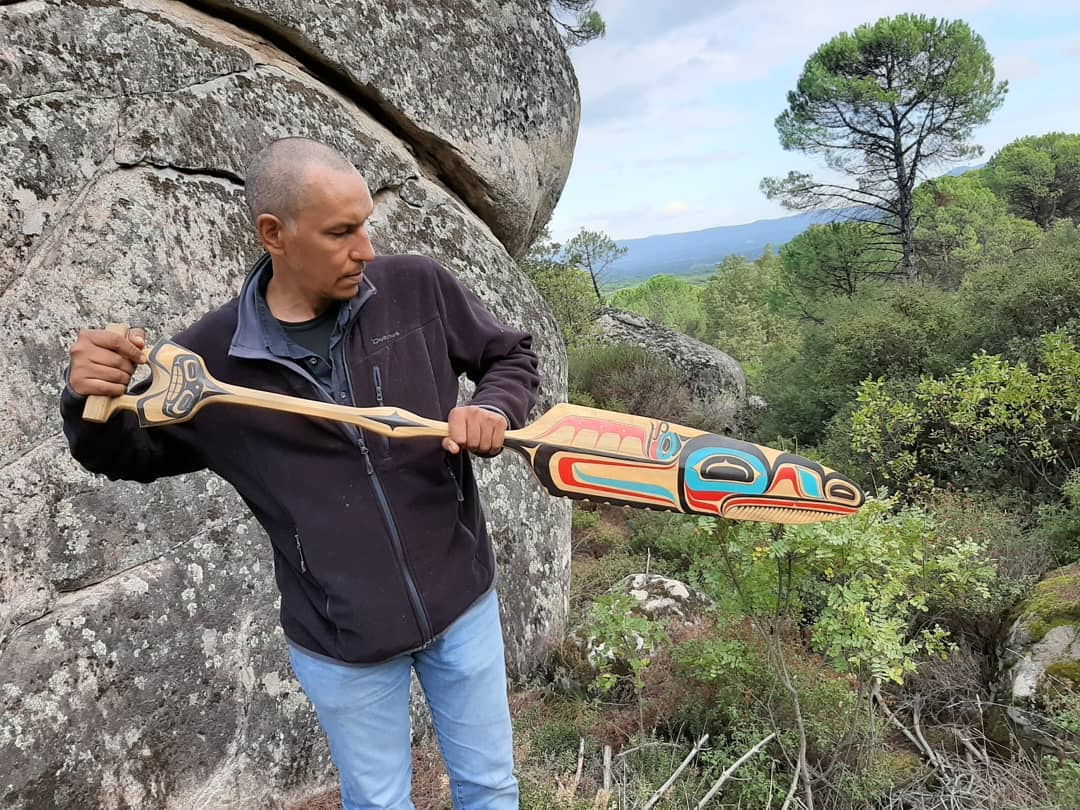 Tlingit culture decorative canoe peddal