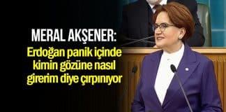 Akşener: Erdoğan panik içinde kimin gözüne nasıl girerim diye çırpınıyor