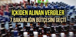 Alkolden alınan vergi 7 bakanlığın bütçesinden fazla!