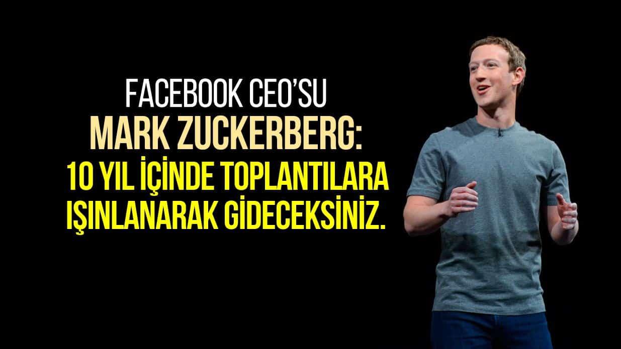 Mark Zuckerberg artırılmış gerçeklik ar