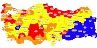 covid risk haritası