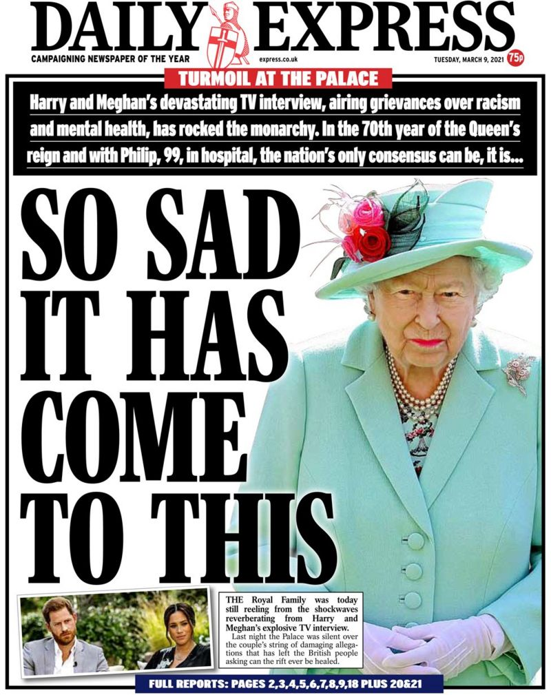 daily express turmoil at the palace