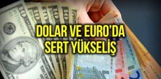 Dolar, Euro kuru ve altın kilogram fiyatında hızlı yükseliş!