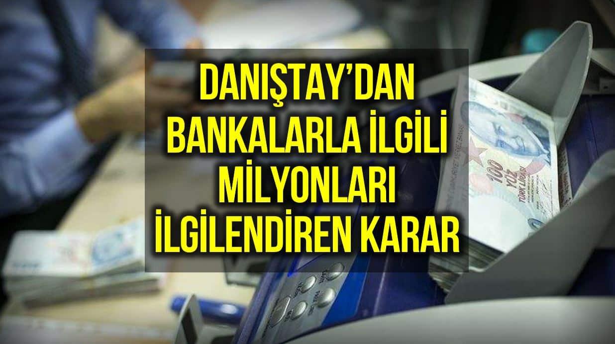 danıştay bankalar hesap işletim ücreti