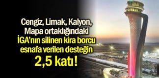 istanbul havalimanı iga kira borcu