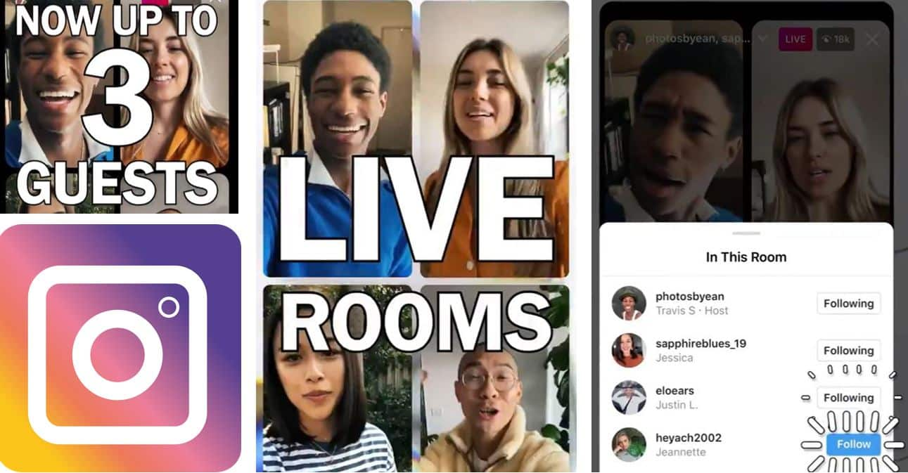 instagram live rooms canlı oda