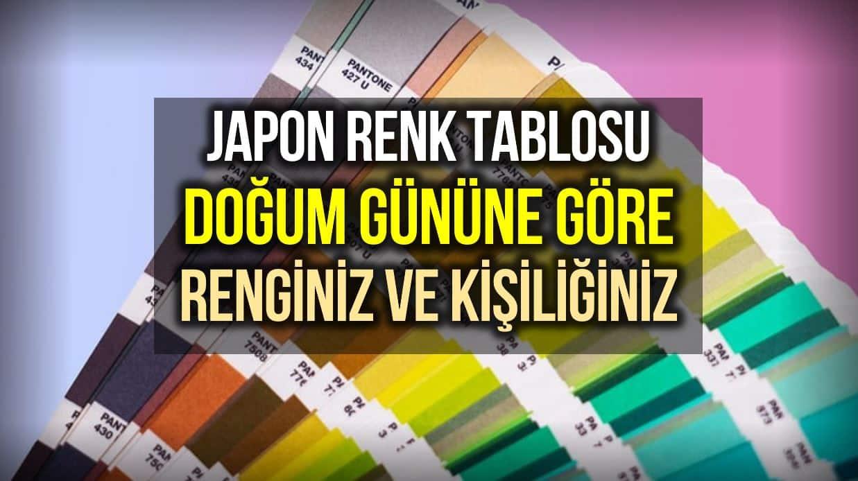 Doğum günü 366 renk: Kişilik tahmin eden Japon renk tablosu
