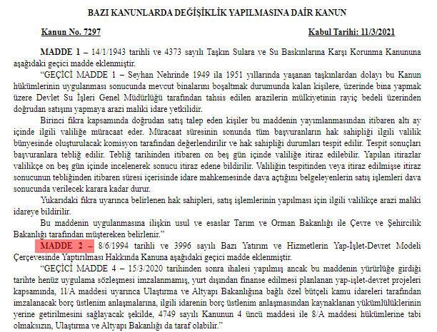 kanal istanbul resmi gazete