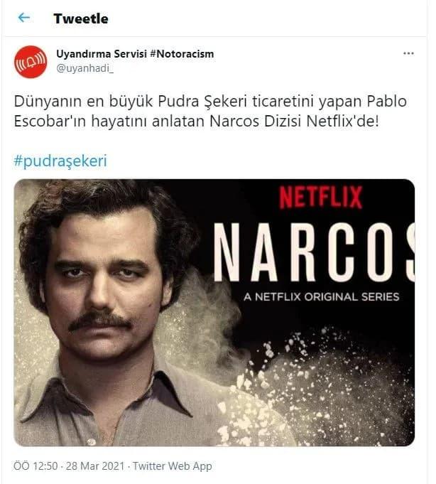 pudra şekeri narcos