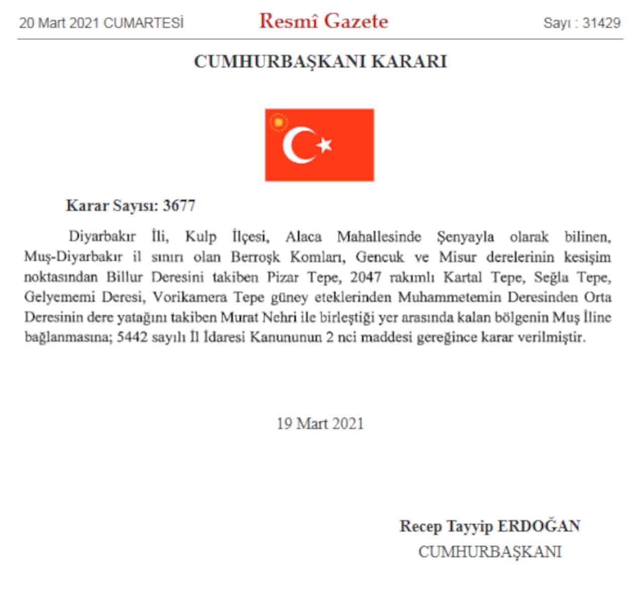 resmi gazete il sınırları değişti
