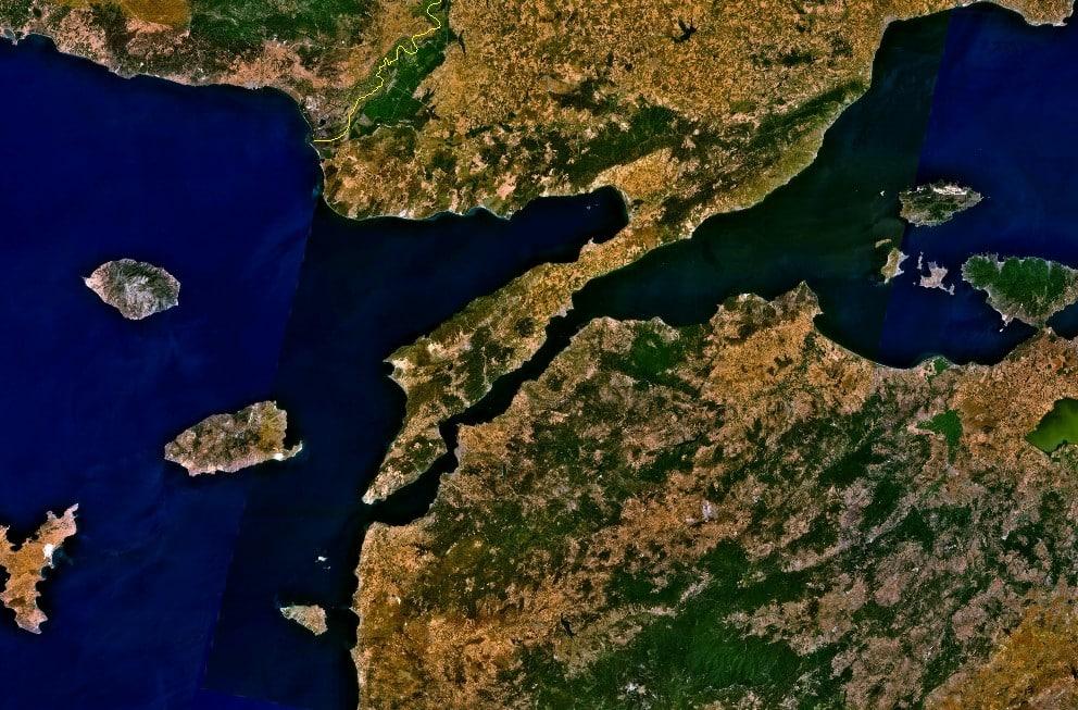 saros uydu görüntüsü uzay