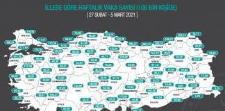 Korona vaka haritası güncellendi: Birçok ilde artış yaşanıyor!