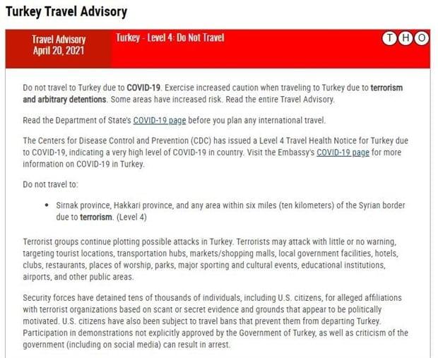 abd türkiye seyahat uyarısı
