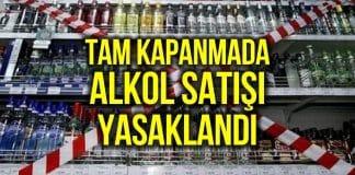alkol satışı yasak