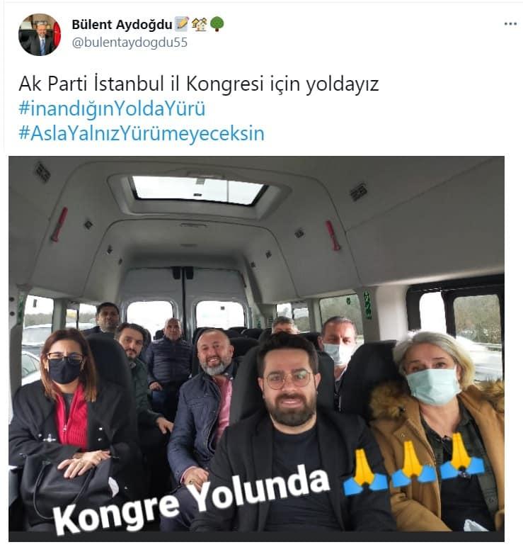 Bülent Aydoğdu, AKP Kongresi'ne giderken şu paylaşımı yapmıştı: