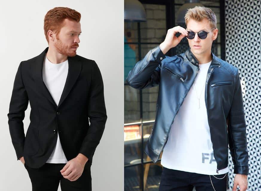 Ceket tişört kombinleri