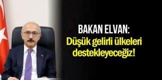 Lütfi Elvan: Düşük gelirli ülkeleri desteklemeye yönelik somut kararlar aldık