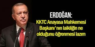 Erdoğan KKTC laiklik