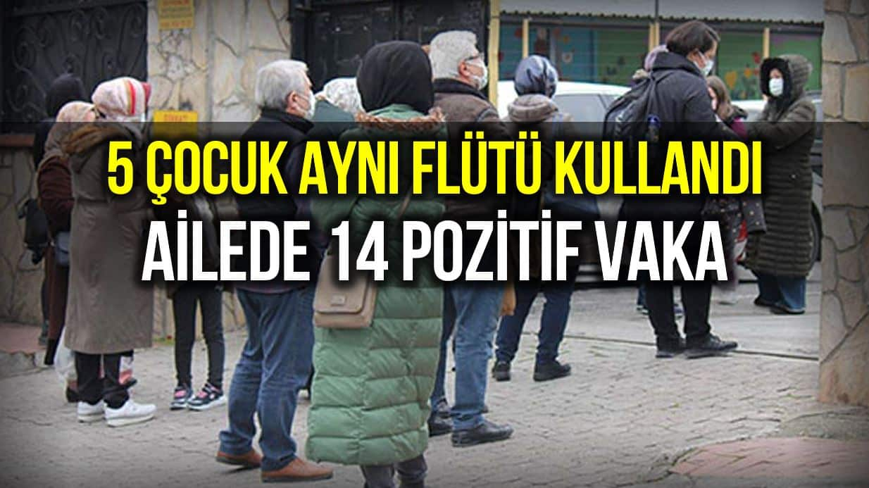 5 çocuk aynı flütü kullandı, çocukların ailesinden 14 kişi pozitif çıktı!