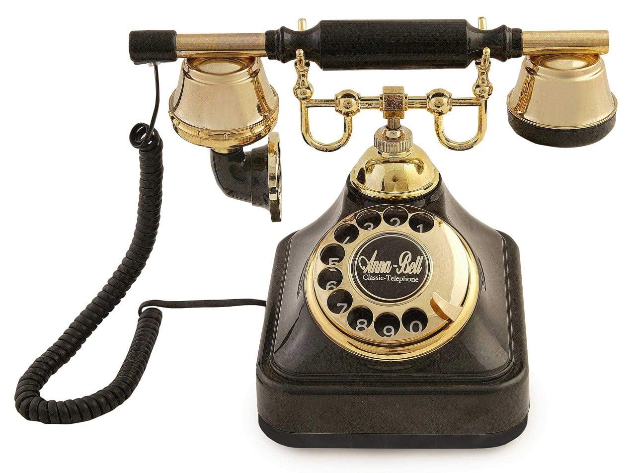 klasik çevirmeli telefon