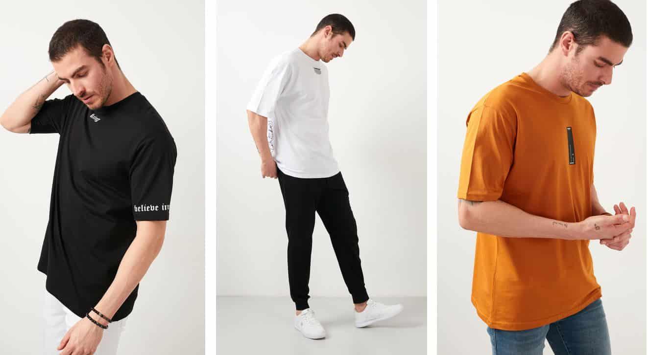 Oversize tişörtler