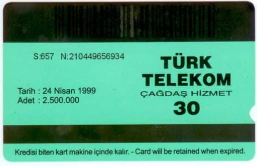eski telefon kartı