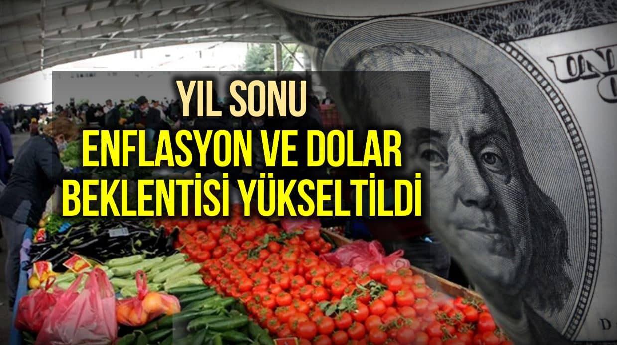 Merkez Bankası anketi:Yıl sonu dolar ve enflasyon beklentisi yükseldi