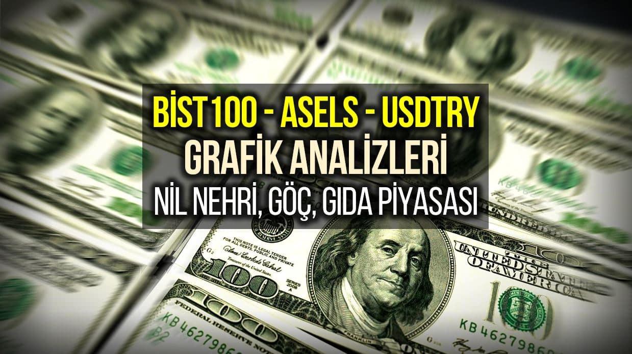 Borsa Endeks, Aselsan hisse senedi ve Dolar grafik: Nil Nehri, göç ve gıda piyasası