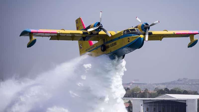 yangın söndürme uçakları
