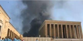 Ankara yangın anıtkabir